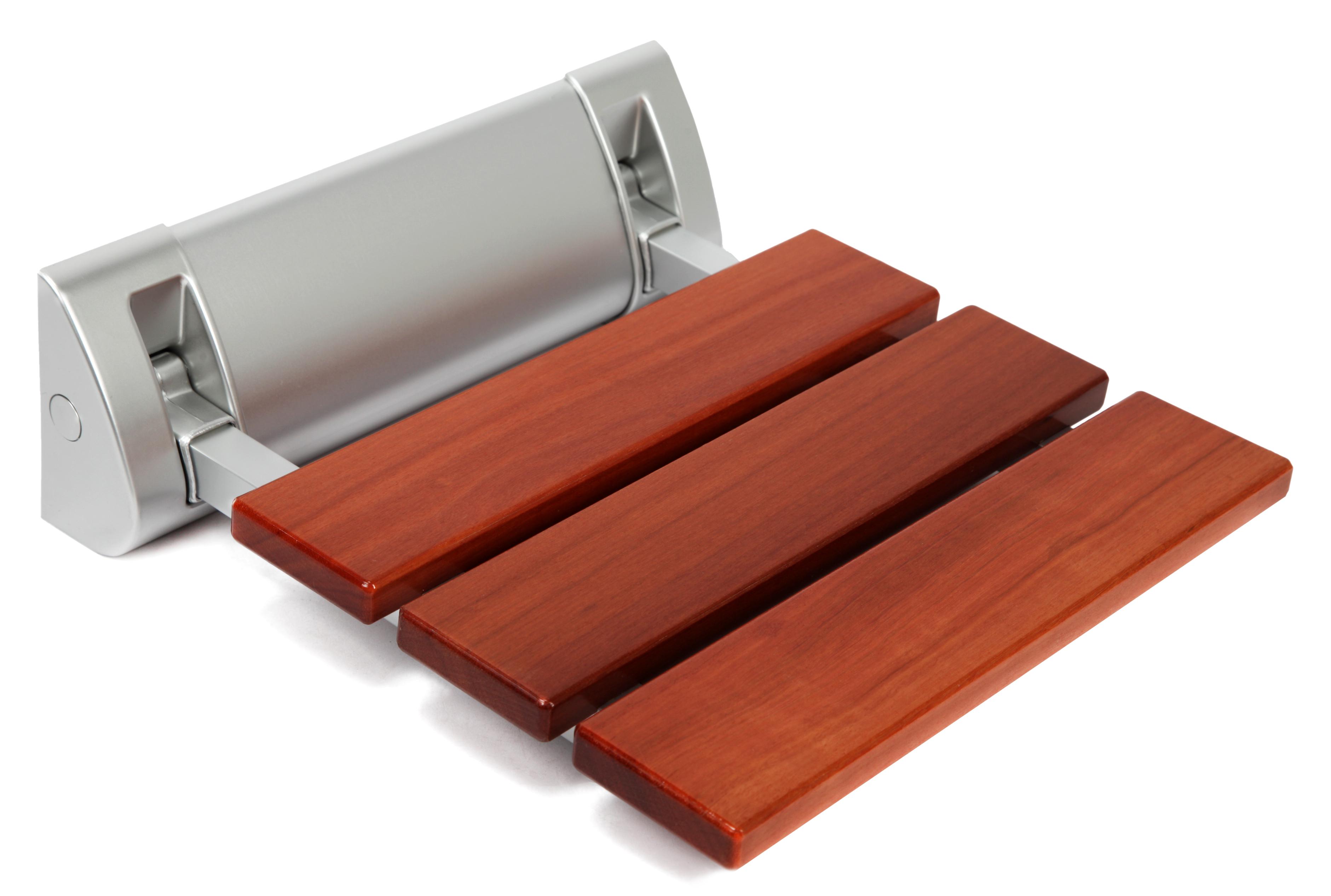 kenley wandmontage holz duschklappsitz klappbar duschsitz klappsitz dusche 150kg ebay. Black Bedroom Furniture Sets. Home Design Ideas