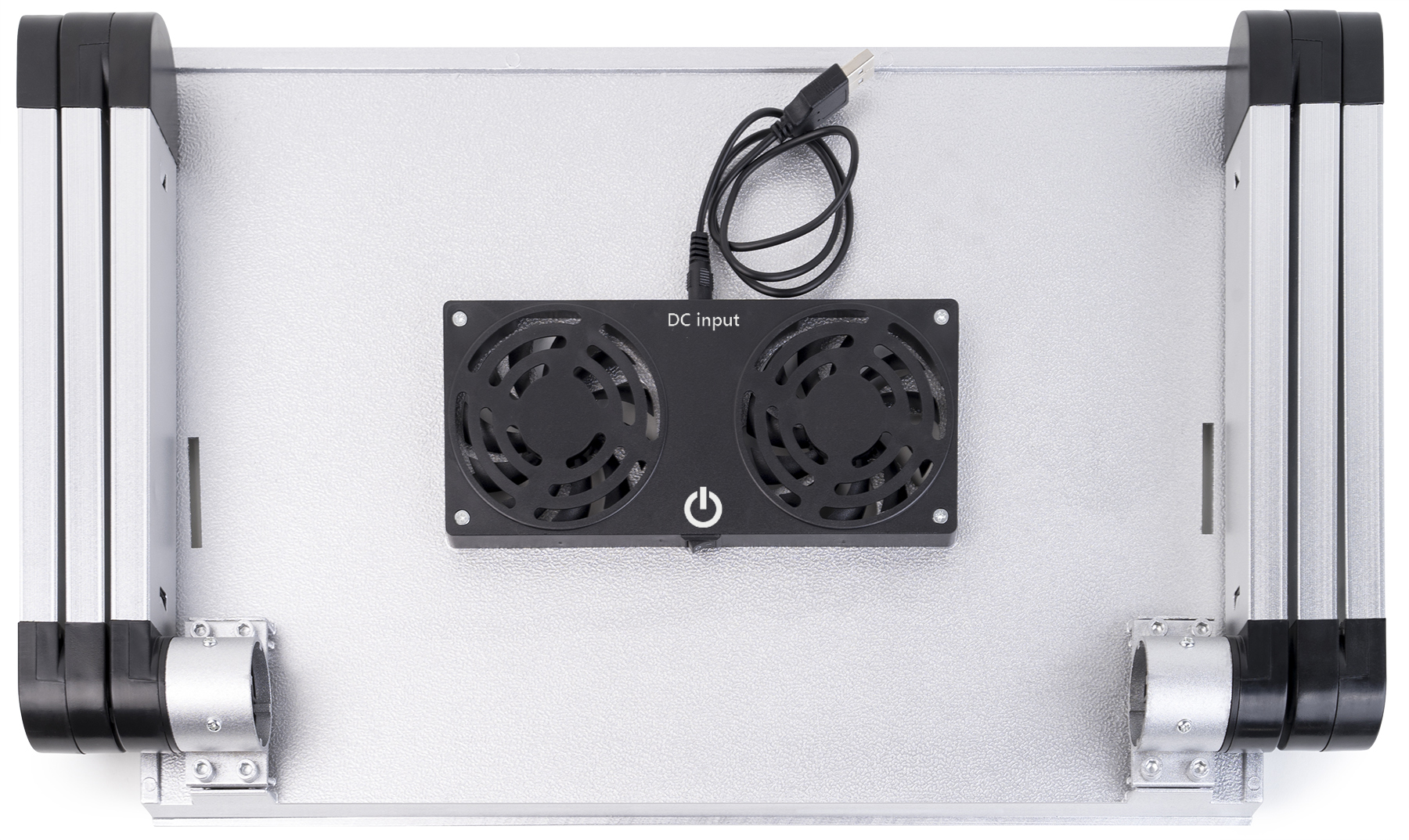 lavolta notebook laptop st nder tisch k hler 2x l fter silber. Black Bedroom Furniture Sets. Home Design Ideas