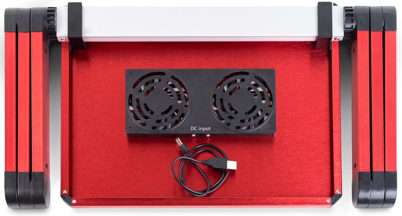 lavolta notebook laptop st nder tisch k hler 2x l fter rot ebay. Black Bedroom Furniture Sets. Home Design Ideas
