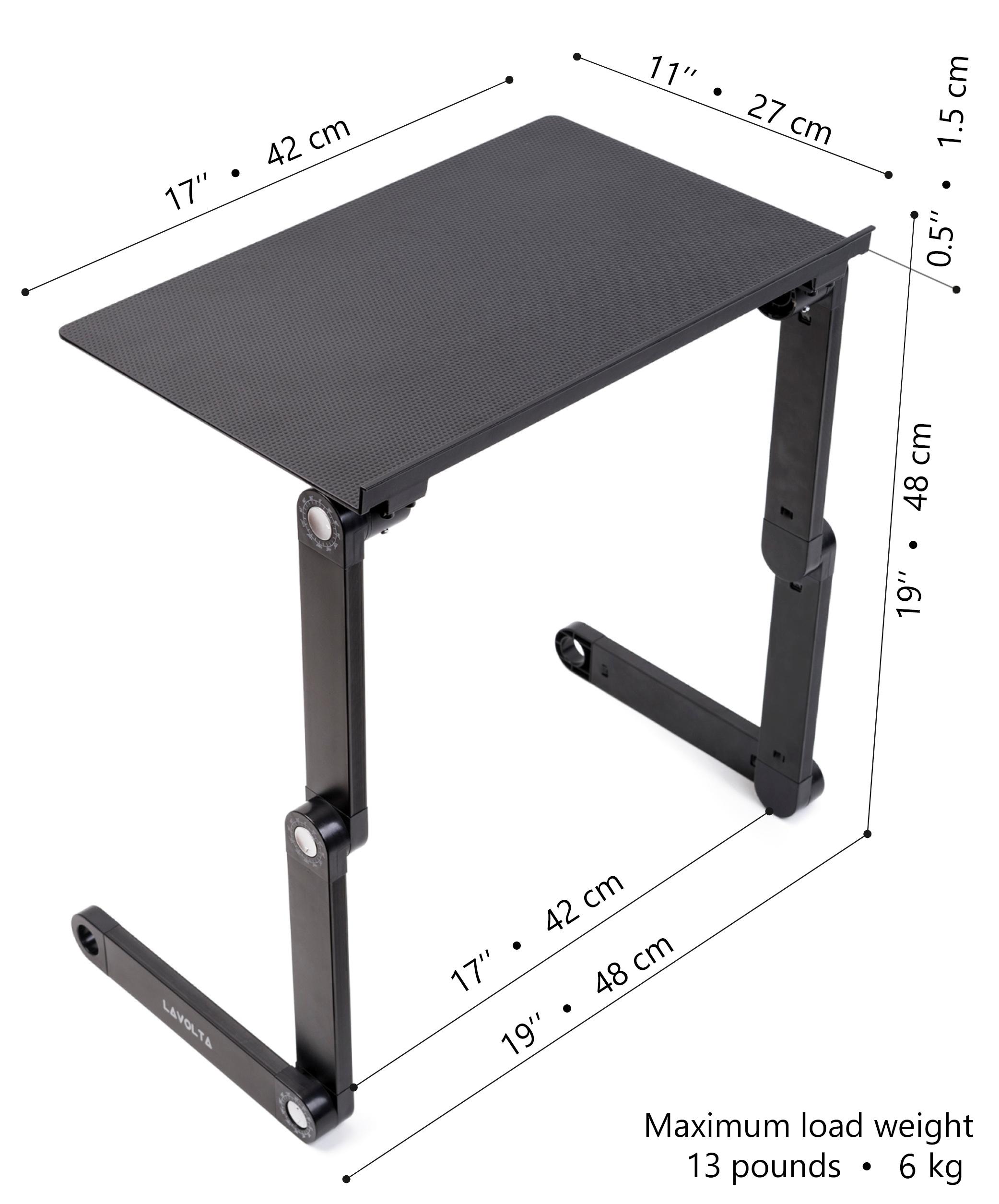lavolta table de lit support pliable pour ordinateur. Black Bedroom Furniture Sets. Home Design Ideas