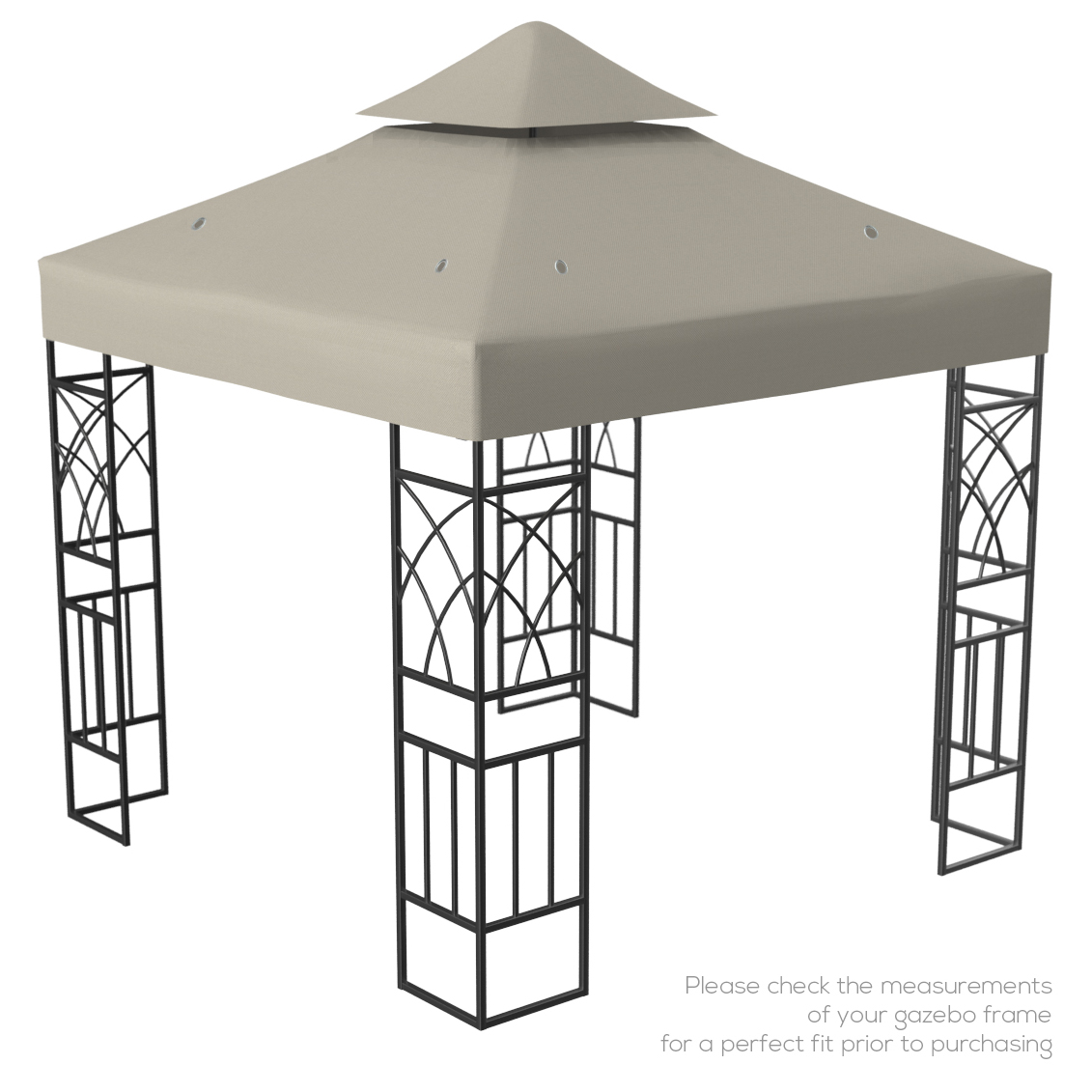 Kenley 2 Tier Gazebo Pavilion Roof Top Cover Canopy