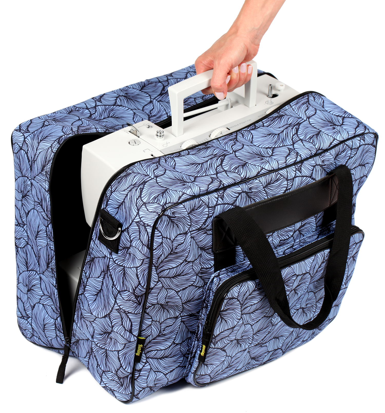 Kenley Padded Sewing Machine Tote Bag Carrying Case Fits