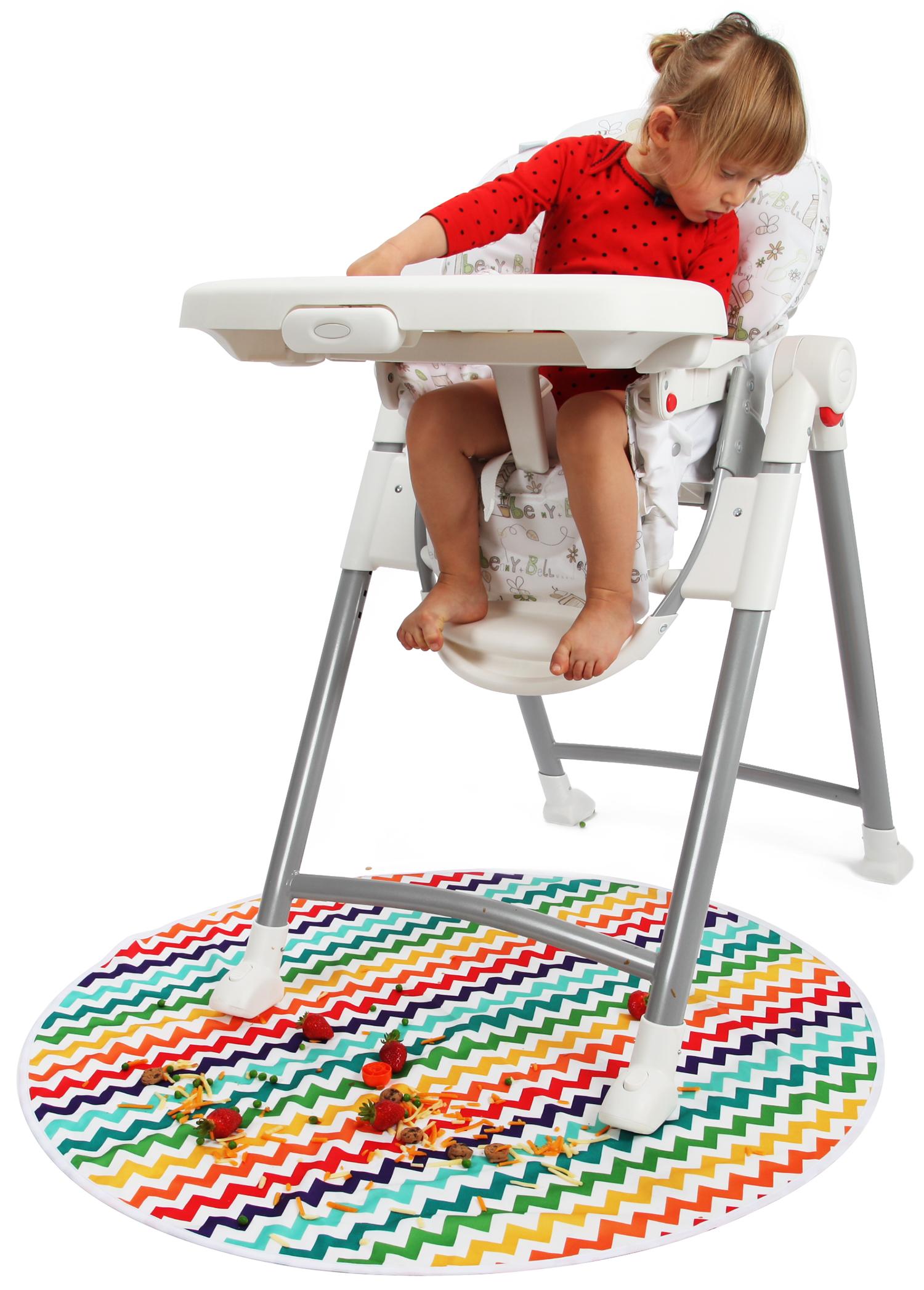 kenley baby highchair high chair floor splash spill splat mat
