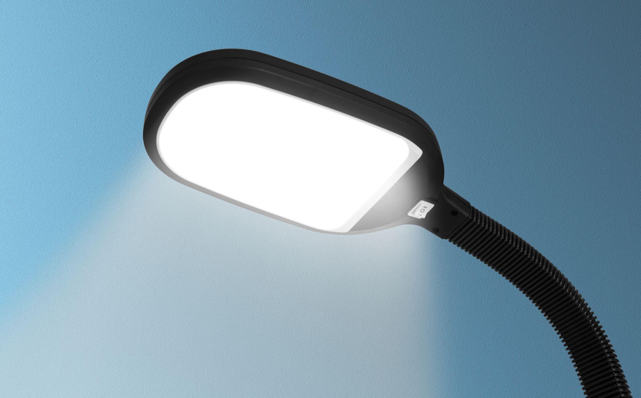 kenley stehlampe leselampe 12w led dimmbar deckenfluter standleuchte standlampe ebay. Black Bedroom Furniture Sets. Home Design Ideas