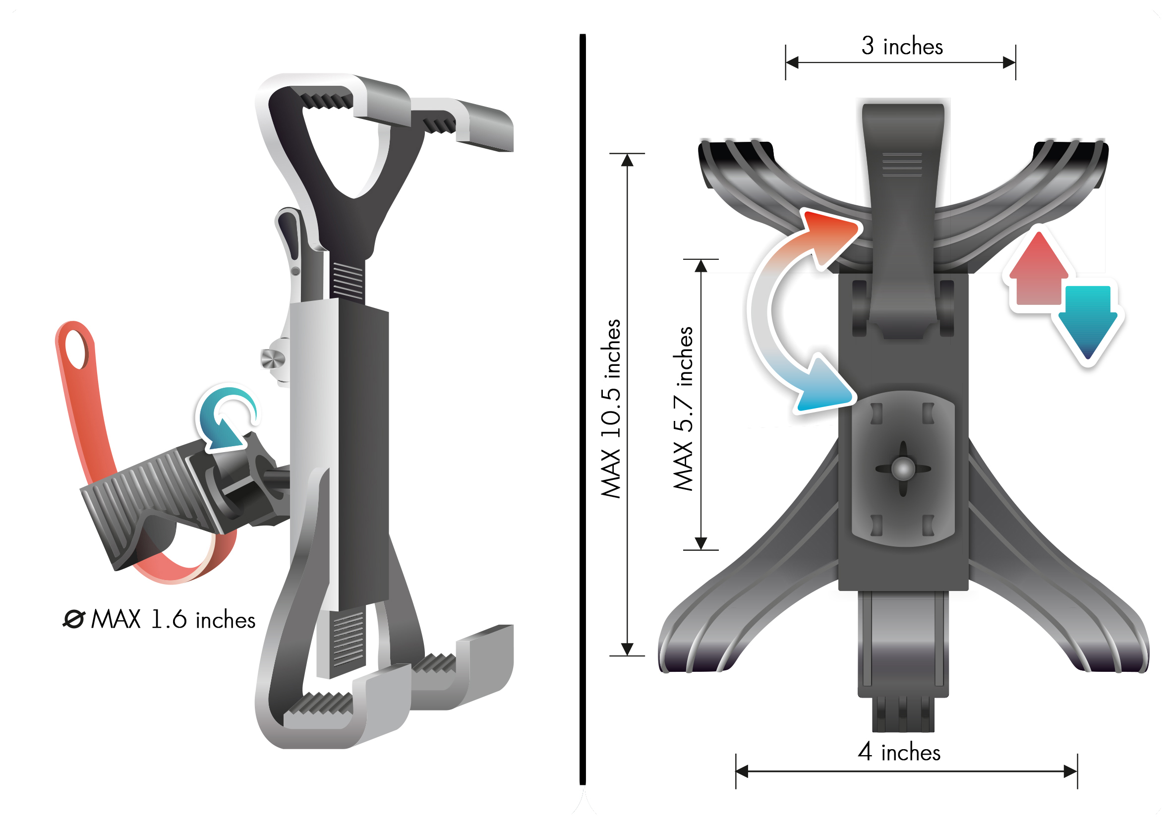 Lavolta Universal Tablet Ipad Holder Mount Stand Treadmill Bike Exercise Trainer Ebay